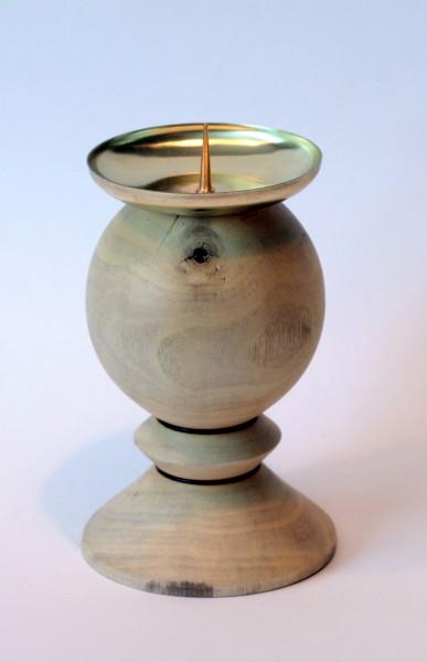 Kerzenhalter aus Obstholz